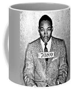 Martin Luther King Mugshot Coffee Mug by Bill Cannon