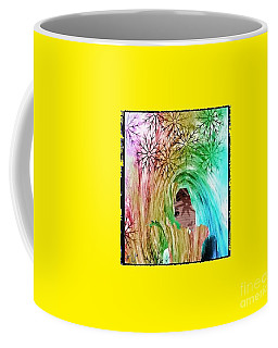 Coffee Mug featuring the digital art Mary In The Field by Ann Calvo