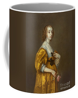 Coffee Mug featuring the painting Mary Villiers Lady Herbert Of Shurland by Anthony van Dyck