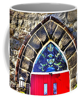 Maryland Country Churches - Saint Anthony Shrine Church Emmitsburg - Main Entrance Close1 Coffee Mug by Michael Mazaika