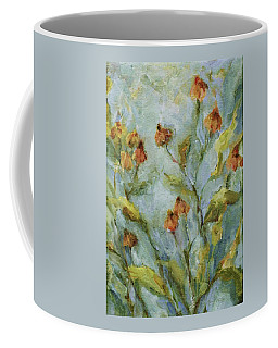Coffee Mug featuring the painting Mary's Garden by Mary Wolf