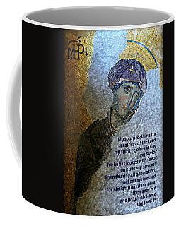 Mary's Magnificat Coffee Mug by Stephen Stookey