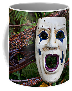 Mask And Ladybugs Coffee Mug