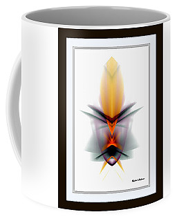 Coffee Mug featuring the mixed media Mask by Rafael Salazar