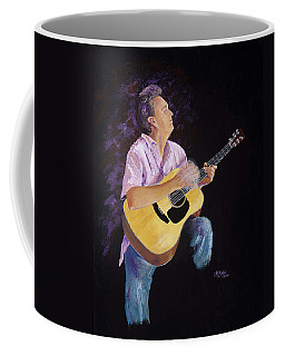 Coffee Mug featuring the painting Master In The Spotlight by Margaret Bobb