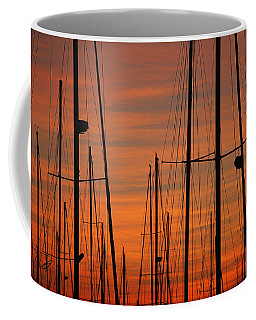 Masts At Sunset Coffee Mug