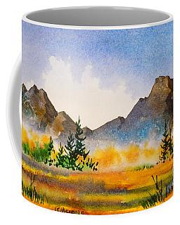 Coffee Mug featuring the painting Matanuska Autumn by Teresa Ascone