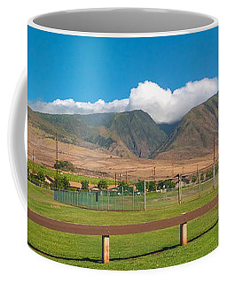 Coffee Mug featuring the photograph Maui Hawaii Mountains Near Kaanapali   by Lars Lentz