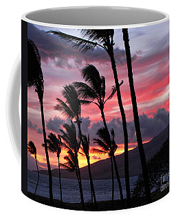 Maui Sunset Coffee Mug by Peggy Hughes