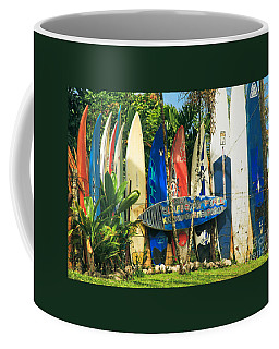 Maui Surfboard Fence - Peahi Hawaii Coffee Mug