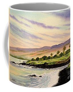 Mauna Kea Golf Course Hawaii Hole 3 Coffee Mug by Bill Holkham