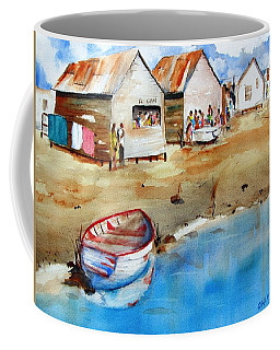 Mauricio's Village - Beach Huts Coffee Mug