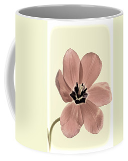 Mauve Tulip Transparency Coffee Mug