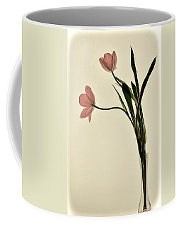 Mauve Tulips In Glass Vase Coffee Mug