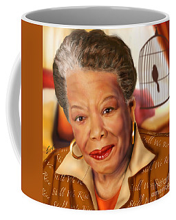 Maya Angelou Rise Of The Song Bird Coffee Mug