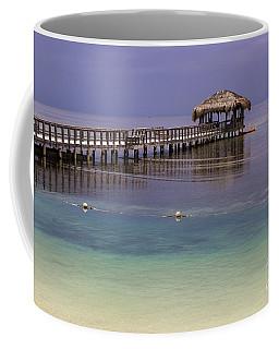 Maya Key Pier At Roatan Coffee Mug by Suzanne Luft