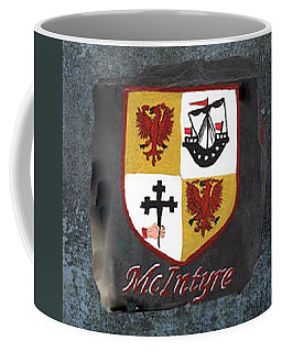 Coffee Mug featuring the painting Mcintyre Coat Of Arms by Barbara McDevitt