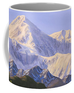 Majestic Denali Mountain Landscape - Alaska Painting - Mountains And River - Wilderness Decor Coffee Mug