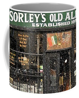 Mcsorley's Old Ale House During A Snow Storm Coffee Mug