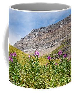 Meadow Of Fireweed Below The Continental Divide Coffee Mug
