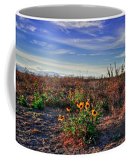 Coffee Mug featuring the photograph Meadow Of Wild Flowers by Eti Reid
