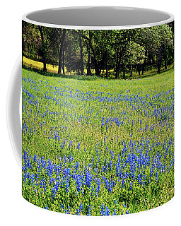 Meadows Of Blue And Yellow. Texas Wildflowers Coffee Mug