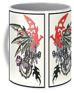 Mech Dragons Collide Coffee Mug