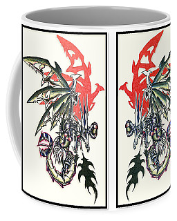 Mech Dragons Collide Coffee Mug