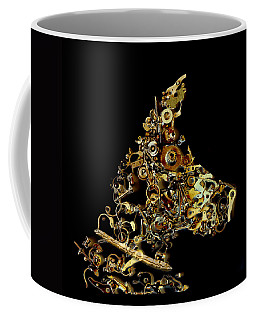 Mechanical - Dog Coffee Mug by Fran Riley