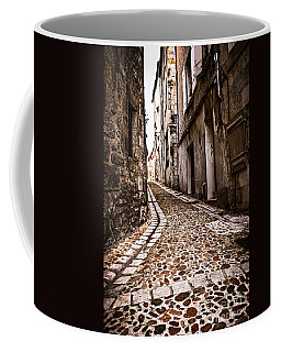 Medieval Street In France Coffee Mug