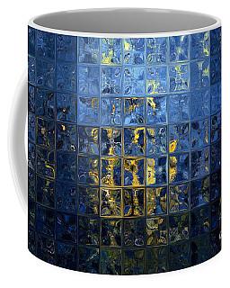 Mediterranean Blue. Modern Mosaic Tile Art Painting Coffee Mug