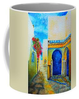 Coffee Mug featuring the painting Mediterranean Medina by Ana Maria Edulescu