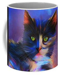 Meesha Colorful Cat Portrait Coffee Mug