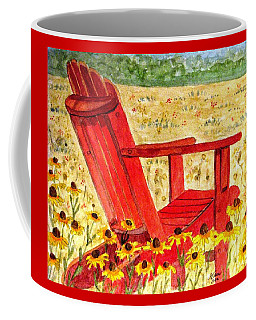 Coffee Mug featuring the painting Meet Me In The Meadow by Angela Davies