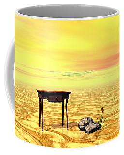 Meeting On Plain - Surrealism Coffee Mug