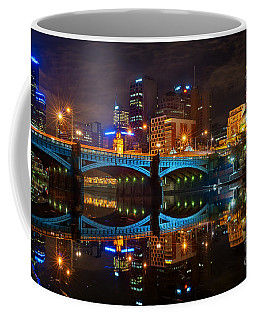 Coffee Mug featuring the photograph Reflective City by Ray Warren