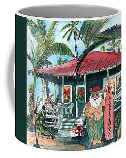 Mele Kalikimaka Hawaiian Santa Coffee Mug