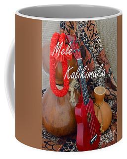 Mele Kalikimaka With Red Ribbon Lei Coffee Mug
