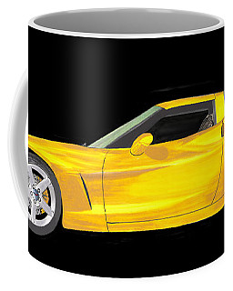 Mellow Yellow Corvette C 6 Coffee Mug