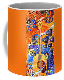 Melodies And Sunset Seas Coffee Mug by Ally  White