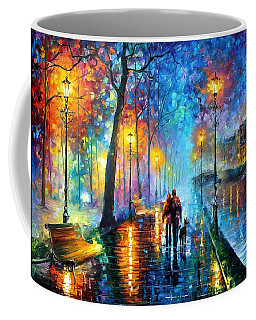 Melody Of The Night - Palette Knife Landscape Oil Painting On Canvas By Leonid Afremov Coffee Mug