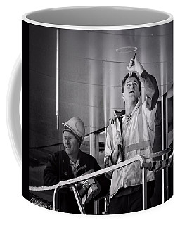 Coffee Mug featuring the photograph Men At Work by Wallaroo Images