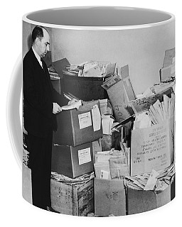 Men With Piles Of Mail Coffee Mug