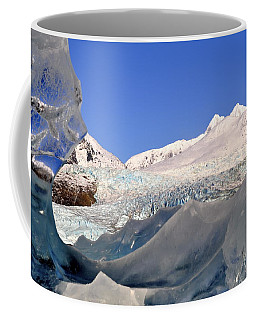 Coffee Mug featuring the photograph Mendenhall Glacier Refraction by Cathy Mahnke