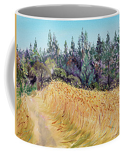 Mendocino High Grass Meadow At Susan's Place In July Coffee Mug
