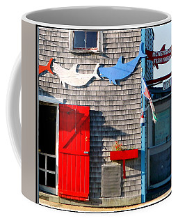 Menemsha Fish Market 3 Coffee Mug by Kathy Barney