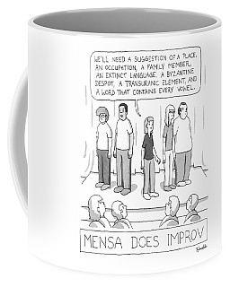 Mensa Does Improv Coffee Mug