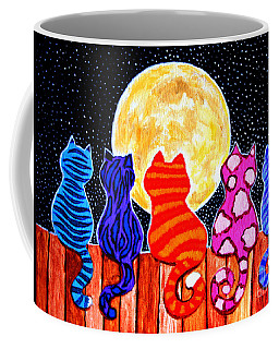 Meowing At Midnight Coffee Mug by Nick Gustafson