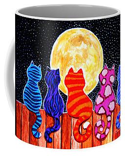 Meowing At Midnight Coffee Mug