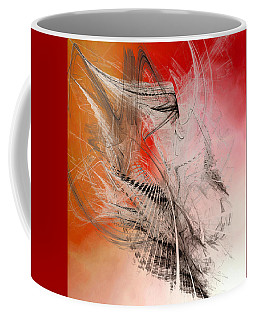 Coffee Mug featuring the digital art Mercury In Aries - Cardinal Fire by Menega Sabidussi